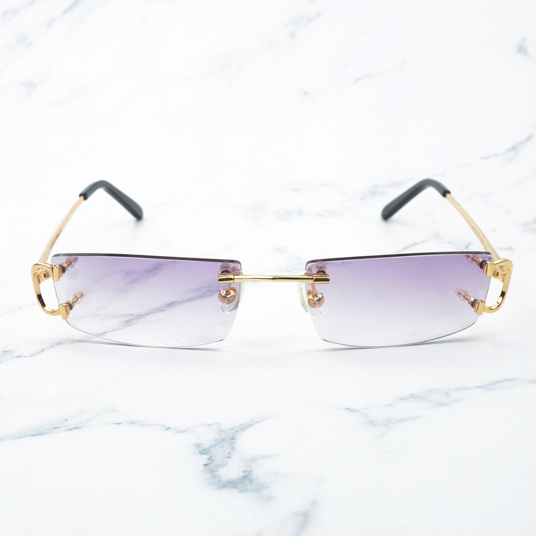 À la mode petites lunettes de soleil carrées pour hommes et femmes lunettes de soleil rouges décoration nuances Vintage lunettes en métal mode Carter lunettes de soleil