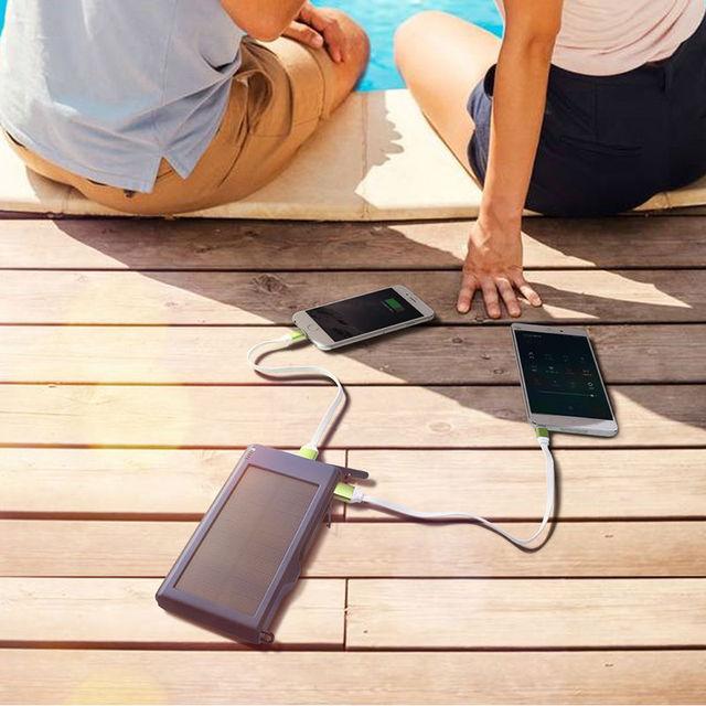 YFW QC3.0 Quick Solar Charger 10000mAh Dual USB Poverbank 2.4A Fast Power Bank External Power Battery for iPhone Huawei Xiaomi