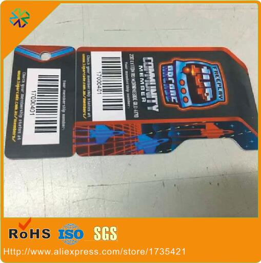 3000pcs/lot)custom Size Plastic Combo Cards/special Shape Custom Combo Cards With Barcode
