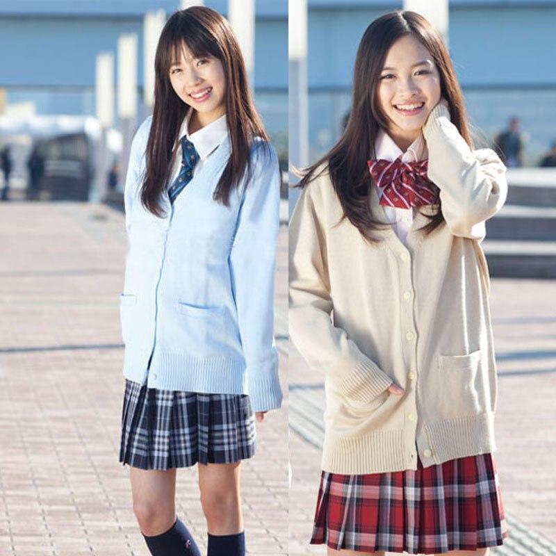 Svetr Kardigan ženy svetr japonský s dlouhým rukávem svetry do krku studenti školní uniformy dívka single breasted Cardigans