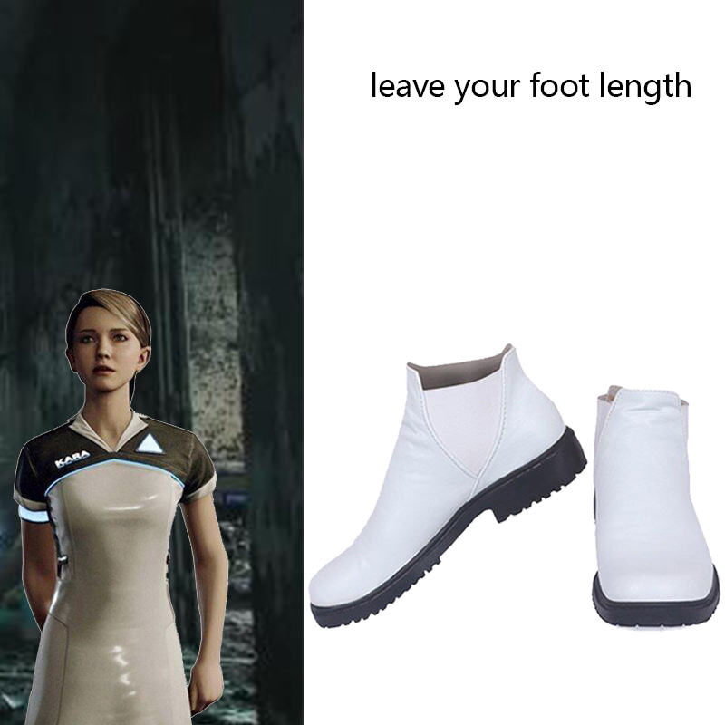 Detroit Become Human AX400 Kara Cosplay Costume Shoes Adult Women Costume Cosplay Boots Halloween Party Superhero