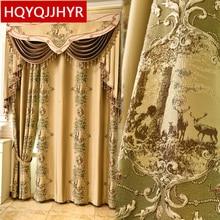Royal สุดหรู 3D jacquard ม่านบังแดดสำหรับห้องนั่งเล่น windows คุณภาพสูง elegant Voile ผ้าม่านสำหรับห้องนอน
