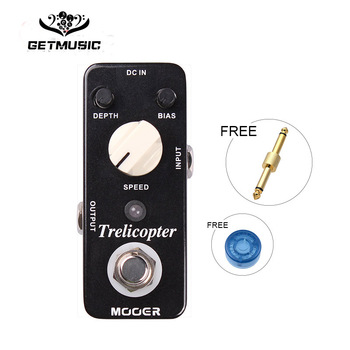 Mooer Trelicopter Tremolo Guitar Effect Pedal Classic Optical Tremolo with Huge Range of Speeds and Depths Full Metal Shell
