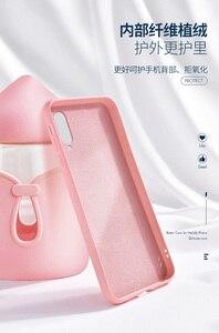 Image 4 - Für xiaomi mi A3 Fall Weiche Flüssigkeit Silikon Schlank Haut Coque Schutzhülle zurück abdeckung Fall für xiaomi mi a3 lite a3lite telefon shell