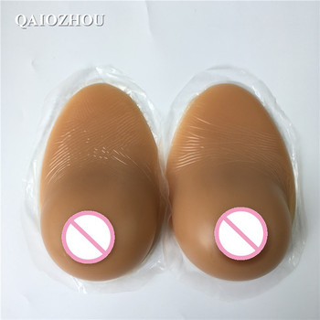 silicone breast adhesive D cup 1000g sexy realistic sagging shape boobs for shemale drag queen