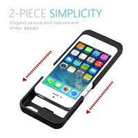 2200mAh For IPhone 5 5S 5C SE External Portable Battery Charger Case Backup Charging Power Bank