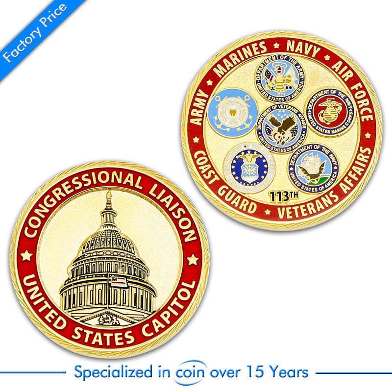 Factory Price Customized USA Military Challenge Coins In High Quality Cheap Custom You Own LOGO Style Coins OEM Metal Army Coins