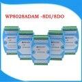 8DI 8DO Digitale input en output module Optocoupler geïsoleerde RS485 MODBUS RTU communicatie module WP8028ADAM