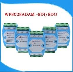 8di 8do módulo de entrada e saída digital optoacoplador isolado rs485 modbus rtu módulo de comunicação wp8028adam