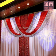 Modern wedding backdrop Sequins curtain Backdrop for Wedding Decoration 10ft*20ft Stage background with Detachable Swag