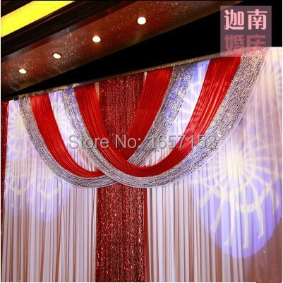 Modern wedding backdrop sequins curtain backdrop for for Background curtain decoration