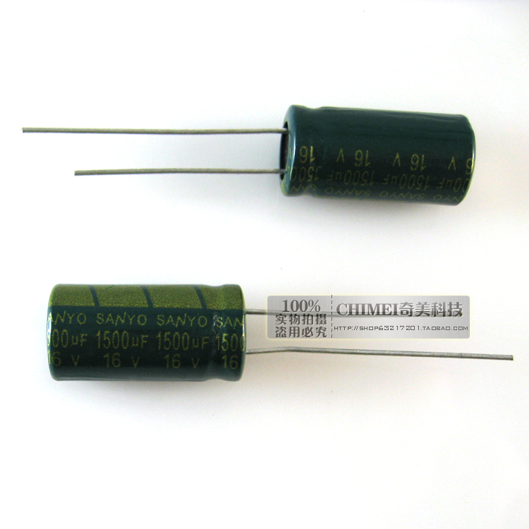 Electrolytic Capacitor 1500UF 16V 10X20MM Volume 10 * 20mm Accessories