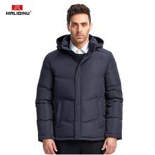 цены на MALIDINU 2017 Men Fashion Duck Down Jacket Winter Casual Down Coat 70%White Duck Down Parka Men European Size Free Shipping  в интернет-магазинах