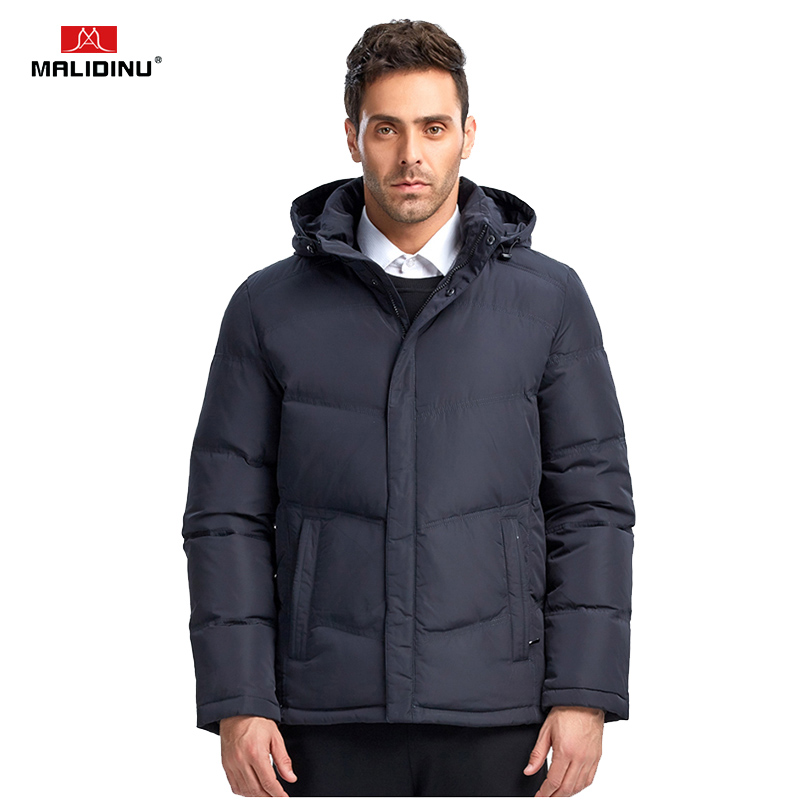 MALIDINU 2019 Men Fashion Duck   Down   Jacket Winter Casual   Down     Coat   70%White Duck   Down   Parka Men European Size Free Shipping