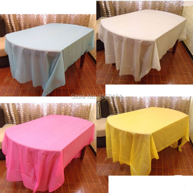 54 X72 Rectangle Plastic Party Table Covers Disposable