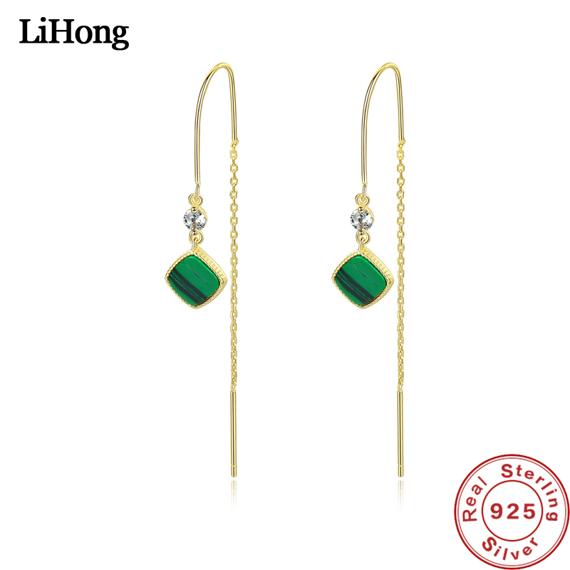 2019 New Natural Turquoise Drop Earrings 925 Sterling Silver Simple Fashion Long Earrings For Women Jewelry Accessories2019 New Natural Turquoise Drop Earrings 925 Sterling Silver Simple Fashion Long Earrings For Women Jewelry Accessories