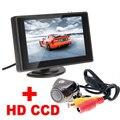"""Digital 4.3 """"TFT LCD Espelho Monitor + 170 Graus vista Traseira Do Carro de Estacionamento Retrovisor Do Carro Da Câmera 2 em 1 Sistema De Assistência de Estacionamento automático"""