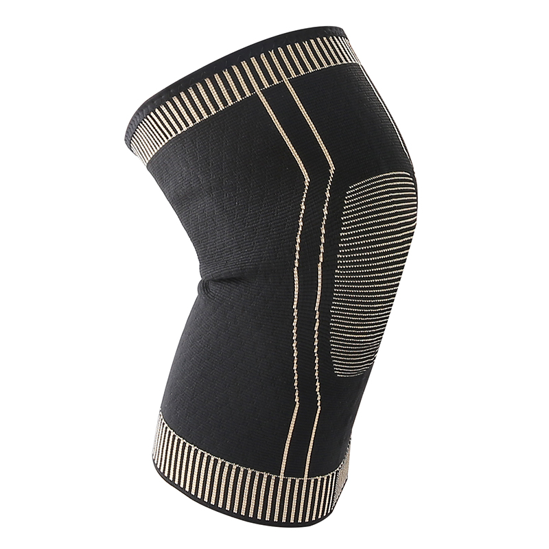New process copper ions knee pad non slip antibacterial automaticlly locking edge basketball running hiking knee