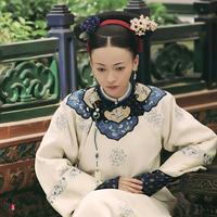 30f67945e Wu JinYan Wei Ying Luo Same Design Qing Dynasty Palace Maid Costume Hanfu  for TV Play