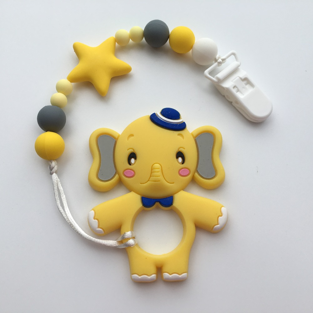 Baby Infant Plastic Clips Pacifier Chain Holder Funny Colorful Beads Pacifier