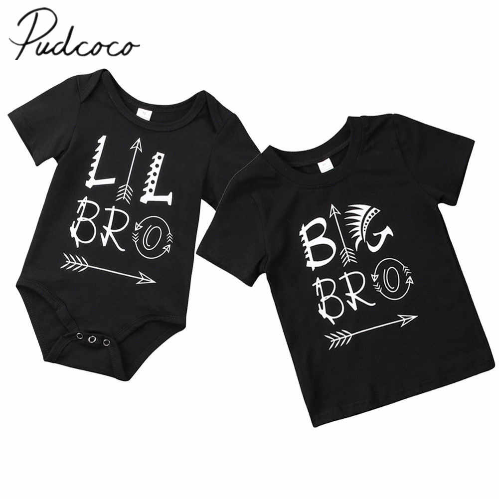 Kleinen Bruder Big Brother Spiel Kleidung Baby Body Großer Junge T-shirt Tops Pfeil Brother Passenden Outfits Sunsuit Overall
