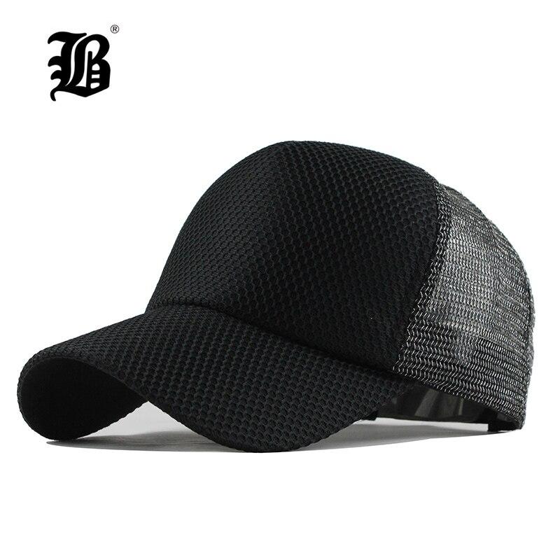 dd392523218  FLB  Summer Baseball Cap Embroidery Mesh Cap Hats For Men Women Snapback  Gorras hats