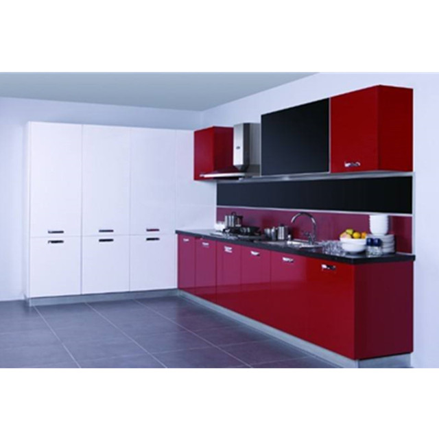 Modern High Gloss Red Kitchen Cabinet