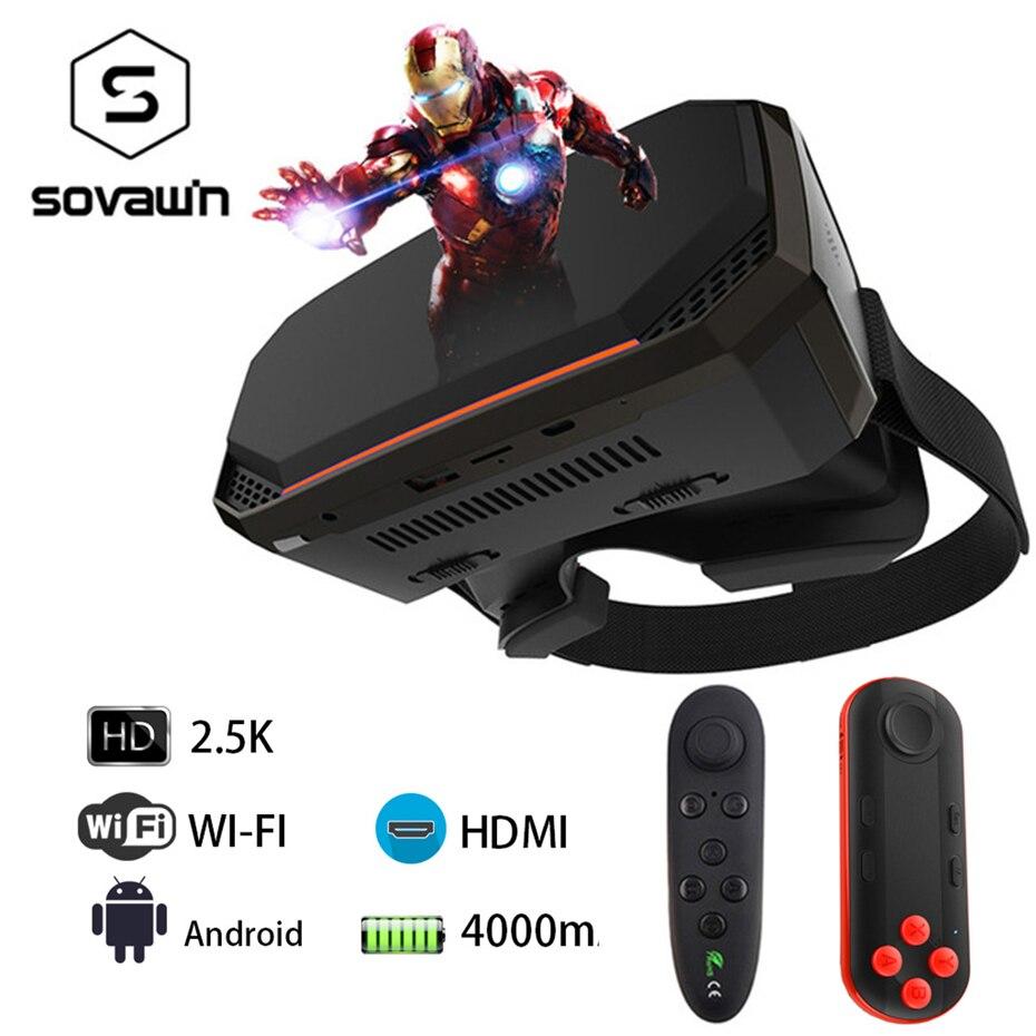 2 k VR 3D Lunettes de Réalité Virtuelle Lunettes Casque Tout En Un VR Casque RK3288 2560*1440 p IPS 5.5