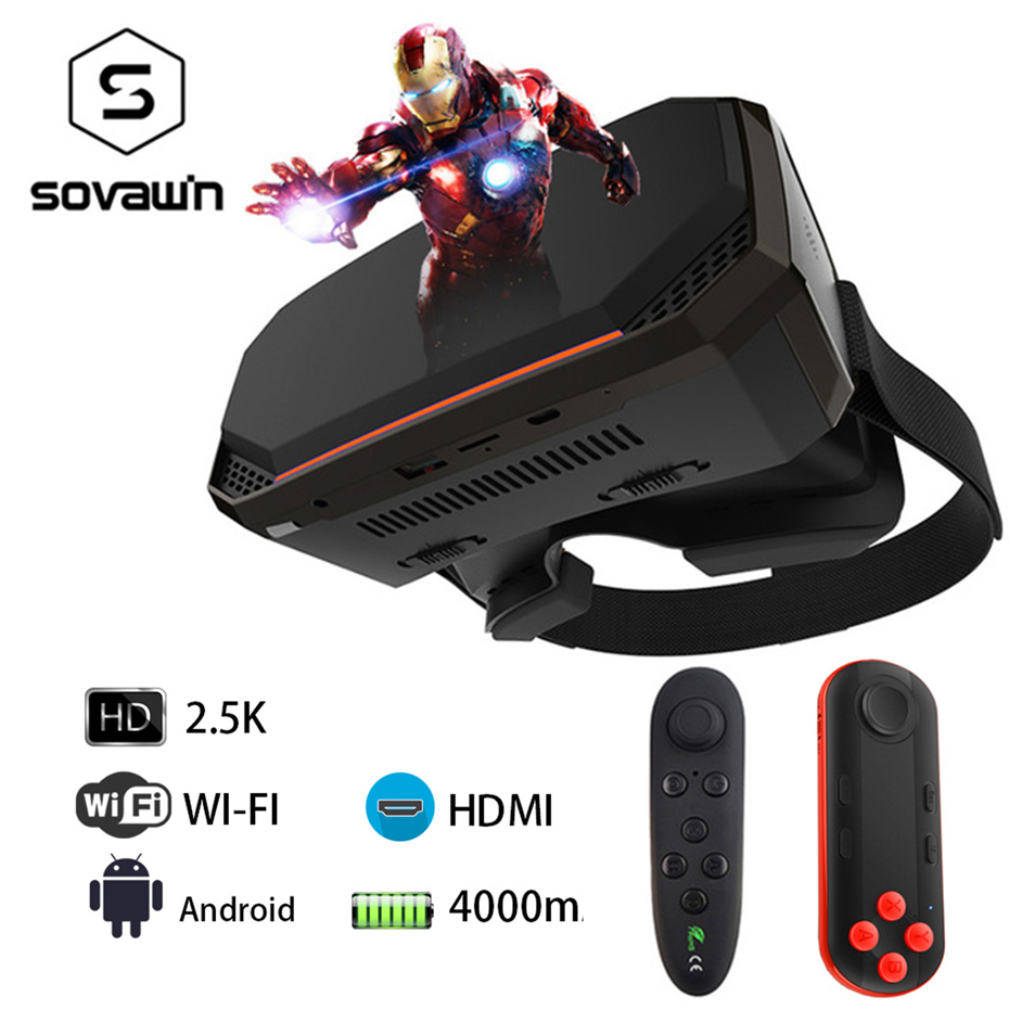 2K VR 3D Virtual Reality Glasses Goggle Helmet All In One VR Headset RK3288 2560*1440P IPS 5.5 2G RAM WIFI HD VR Box 3D Glasses caraok v12 android 4 4 all in one 3d vr virtual reality glasses allwinner h8 quad core 2g 16g support wifi bluetooth otg f19631
