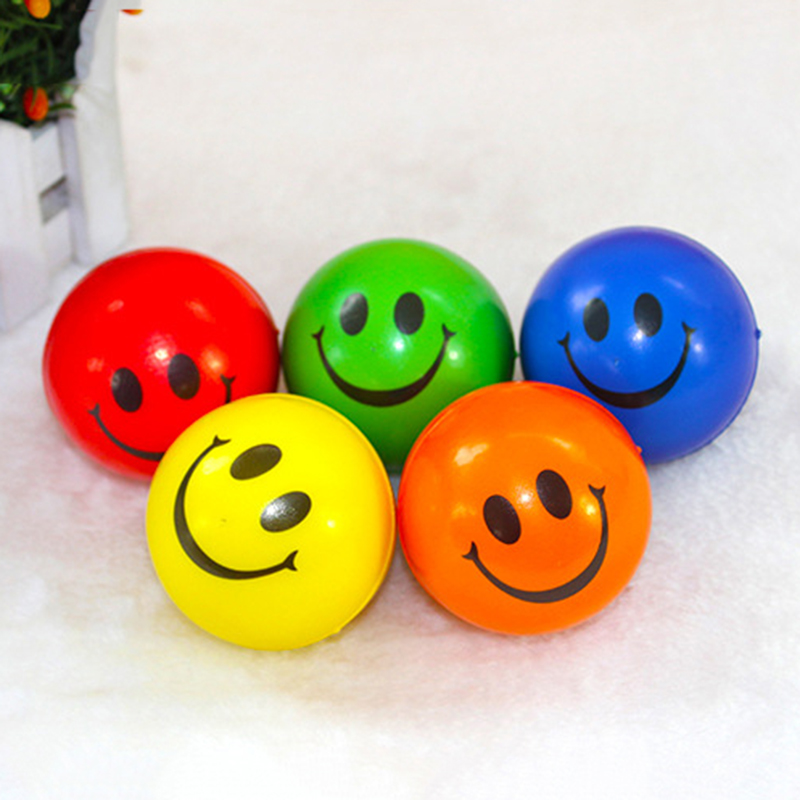 2016 Soft Anti Stress Balls Toys Outdoor Activities Entertainment Children Dog Pet Pu Laugh Face AntiStress Ball Kids Toy OTB01