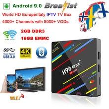 цена на H96 MAX PLUS Android 9.0 2GB DDR3 16GB EMMC Smart TV Box support iptv 5G wifi 4K H.265 HD2.0 Media player H96 Pro H2 PK X96 MAX