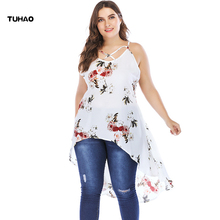 hot deal buy tuhao sexy stap ruffle blouses shirts women bohemian plus size 5xl 4xl summer blusas feminina vintage sleeveless blouse top cm63
