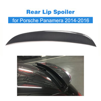 Carbon Fiber / FRP Unpainted Rear Trunk Boot Lip Spoiler Wing for Porsche Panamera 2014 2016 Rear Duck Spoiler Car Styling