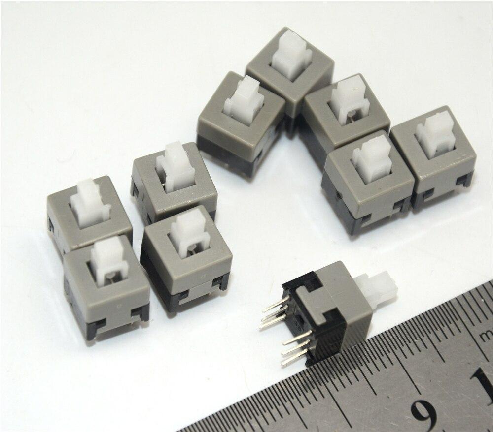 10PCS/Lot 8.5mmX8.5mm Self-locking Switch Push Button Switch DIP 6 Pins Tactile Pushbutton Key Switch Wholesale