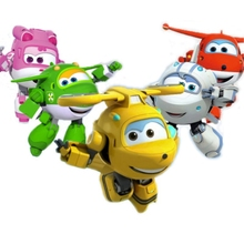 19 Styles Super Wings Action Figure Toys Big Airplane Robot wings Transformation Anime Cartoon For Children Boys Gift