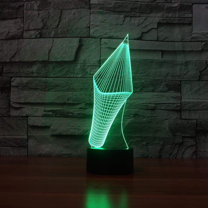 Creatieve 3d Visuele Potlood Model Tafellamp Led 7 Kleuren Veranderen Nieuwigheid Pen Vorm Nachtlampje Studeerkamer Home Decor Kids Geschenken Verpakking Van Genomineerd Merk