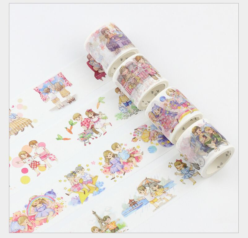 3CM Wide Water Color Halo Dyeing Colorful Washi Tape Adhesive Tape DIY Scrapbook