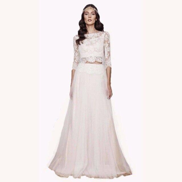 Aliexpress.com : Buy top quality 2017 two piece wedding dresses with ...