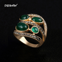 His And Hers Promise Ring Sets For Men And Women Fashion Red Stone Charm Cabochon Emerald