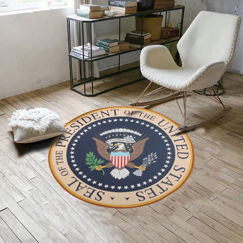 American Eagle Diameter 80CM Round Bath Carpets Rug for Living Room Fashion Bedroom Non-slip chair floor Mats for Kid Doormat
