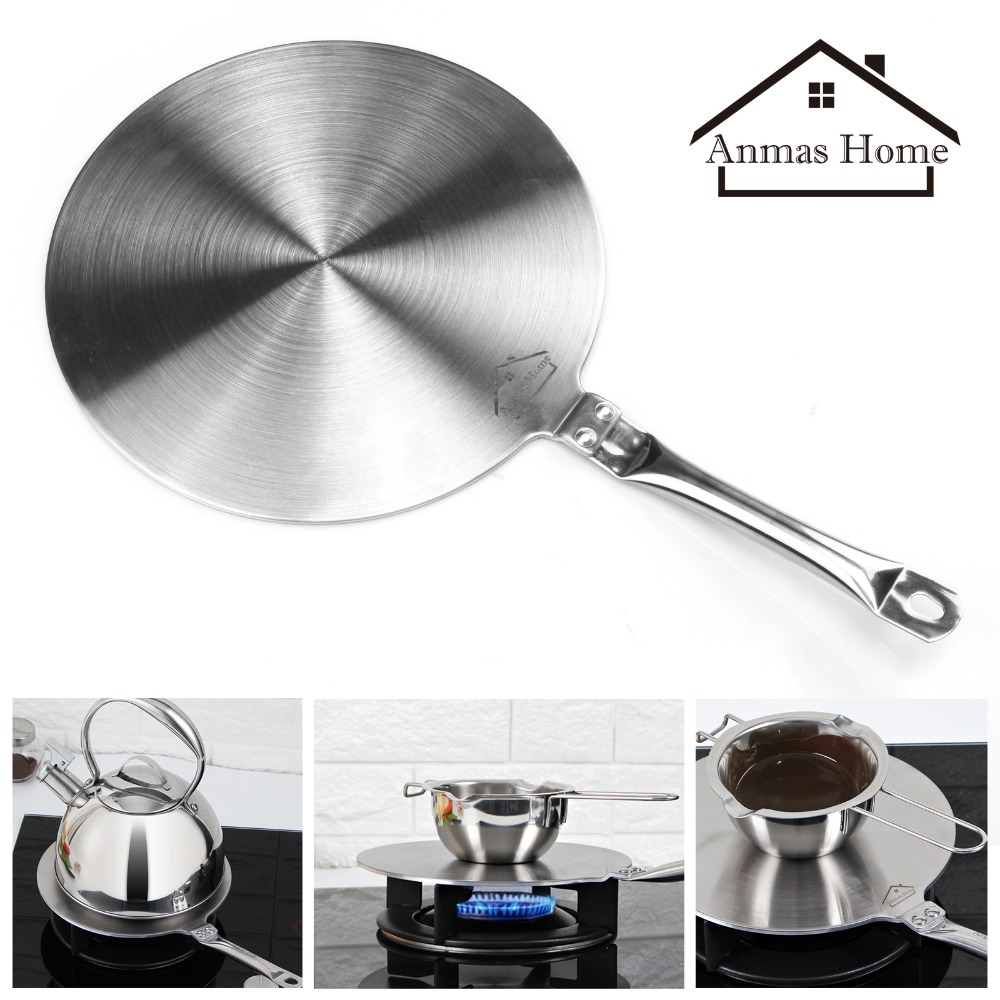 S/M/L  Induction Cooktop Stainless Steel Converter Interface Disc Plate Heat Diffuser Converter Cookware 19.5/21.5/23.5cmS/M/L  Induction Cooktop Stainless Steel Converter Interface Disc Plate Heat Diffuser Converter Cookware 19.5/21.5/23.5cm