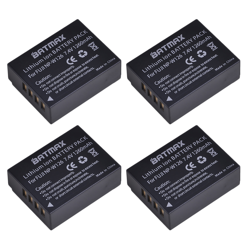 4Pcs 1260mAh NP-W126 NP W126 NPW126 Batteries for Fujifilm Fuji X-Pro1 XPro1 X-T1 XT1, HS30EXR HS33EXR X PRO14Pcs 1260mAh NP-W126 NP W126 NPW126 Batteries for Fujifilm Fuji X-Pro1 XPro1 X-T1 XT1, HS30EXR HS33EXR X PRO1