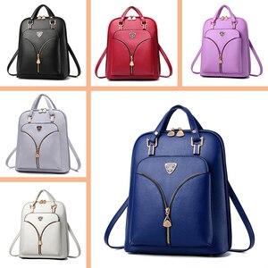 Image 4 - Nevenka anti roubo de couro mochila feminina mini mochilas femininas mochila de viagem para meninas mochilas escolares senhoras saco preto 2018