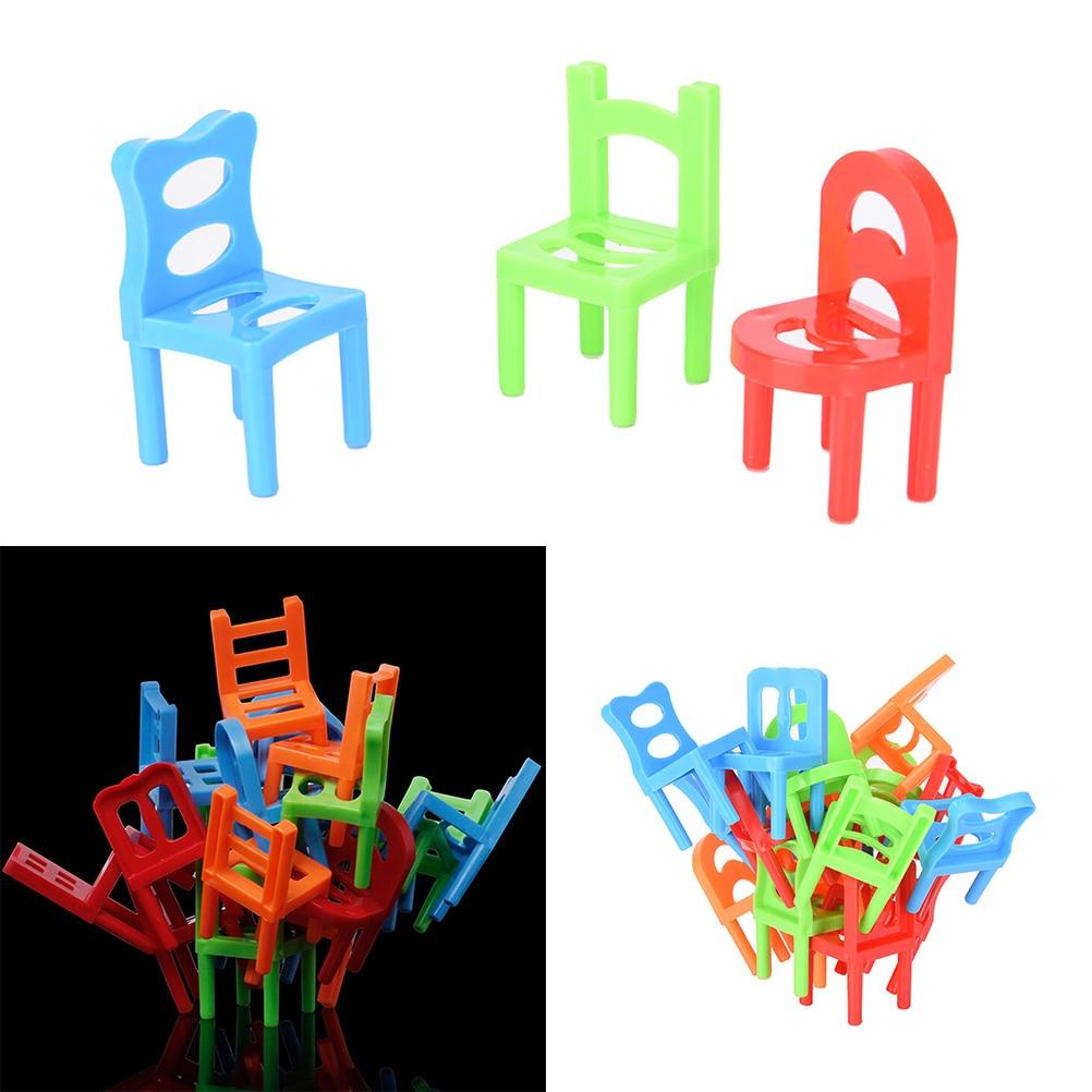18 Pcs Familie Brettspiel Kinder Pädagogisches Spielzeug Balance Stapeln Stühle Stuhl Hocker Büro Spiel 15*20,5*3,5 Cm