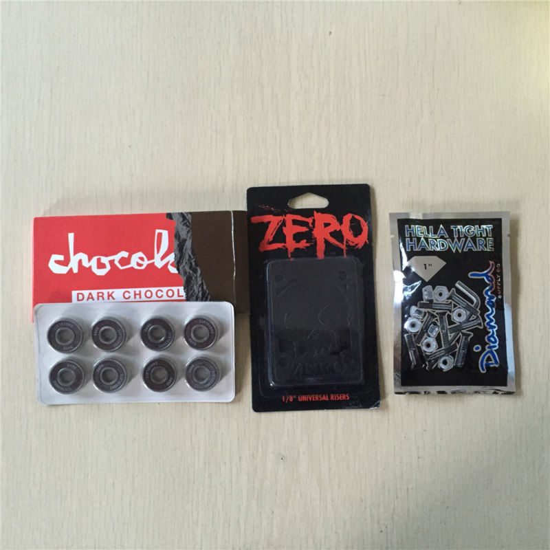 Girl And Chocolate Skateboard Parts Skateboarding Bearing ABEC-3 With Element ZERO Royal Riser Pad And Diamond Or Girl 1