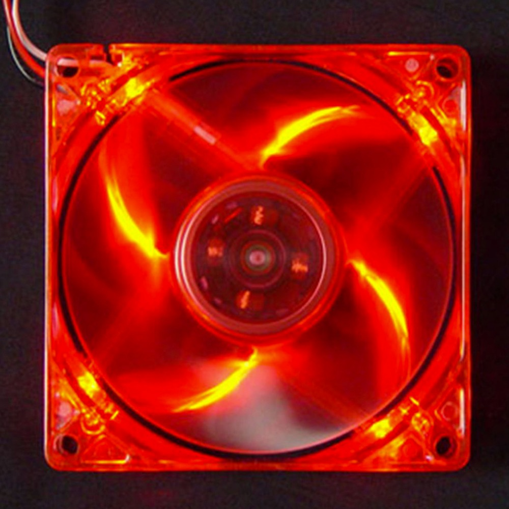 2017 New 12cm PC Computer Clear Case Quad 4 Blue/RED/Colorful LED Light 9-Blade CPU Cooling Fan 12V Hot Promotion mecall 8cm computer pc clear case quad cpu cooling fan
