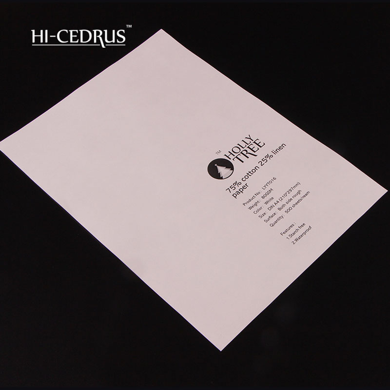 Good Price For 80 Gsm 100% Cotton  Security Paper A4 210*297mm ,white Color