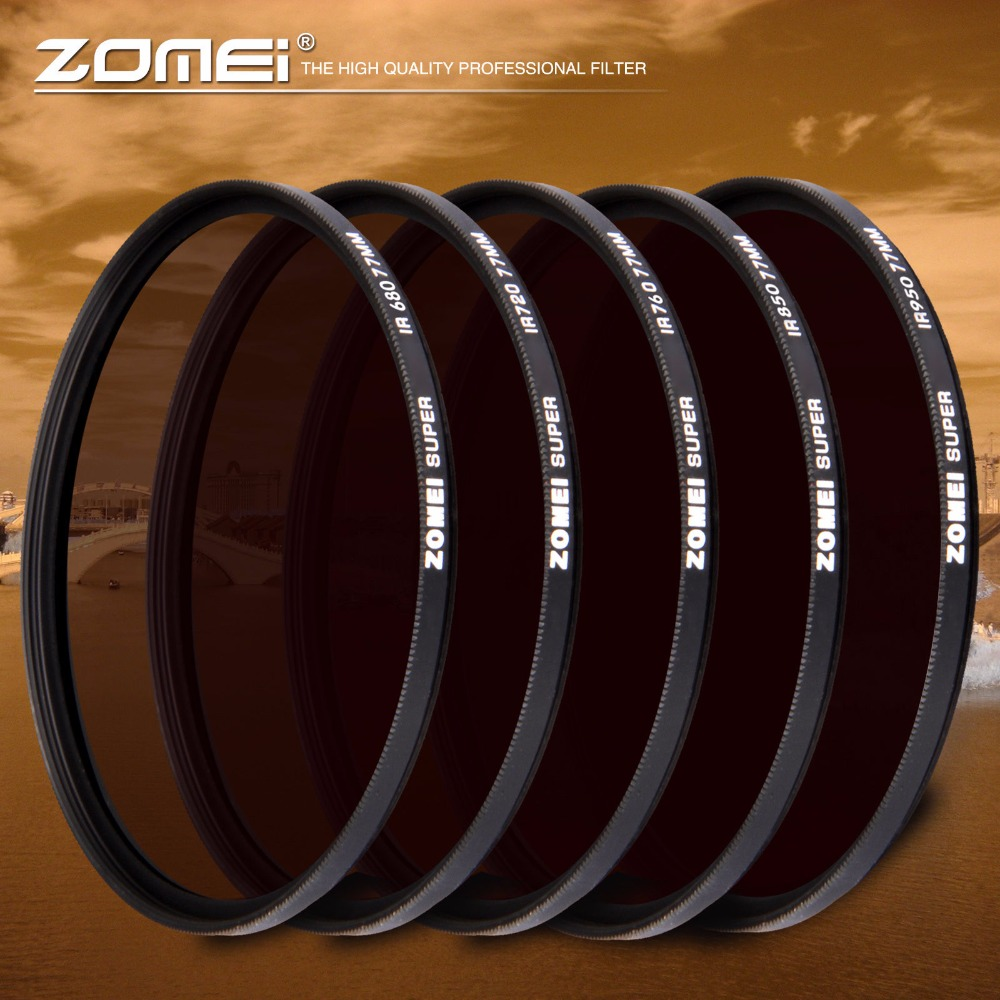 Filtre infrarouge IR Zomei 680nm 720nm 760nm 850nm 950nm X-RAY filtre infrarouge pour objectif appareil photo reflex numérique Nikon Canon Sony