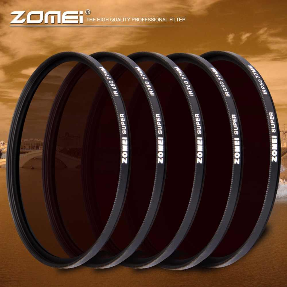 Zomei Infrared IR Filter 680nm 720nm 760nm 850nm 950nm X-RAY Infrared filter for SLR DSLR Camera Lens Nikon Canon Sony