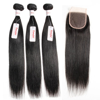 Brazilian Straight Virgin Human Hair Extensions
